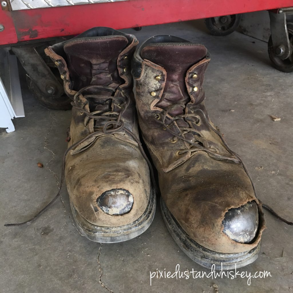 The Busted up Boots of an Everyday Hero